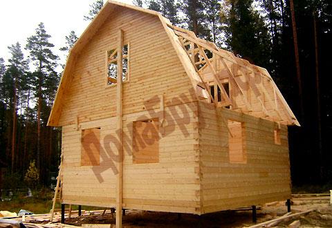 Постройка дачного домика из бруса своими руками