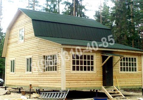 Как построить дом из бруса 8 на 8 с мансардой своими руками