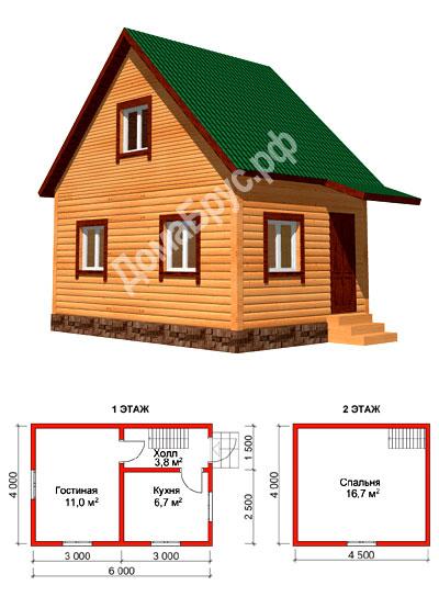Строительство каркасного дома 4х6